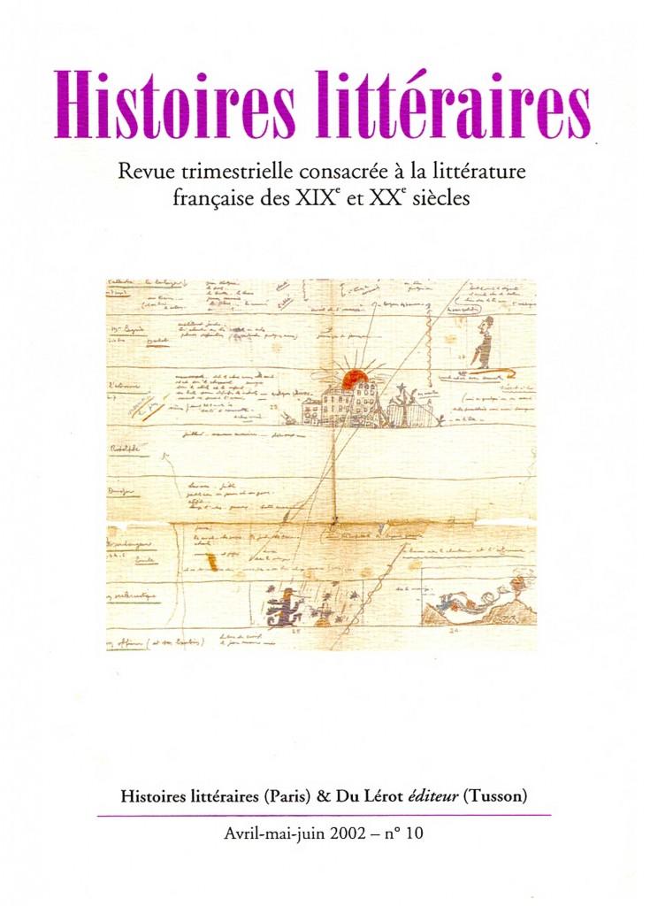 Couverture d'Histoires littéraires n°10