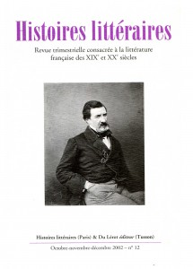 Couverture d'Histoires littéraires n°12