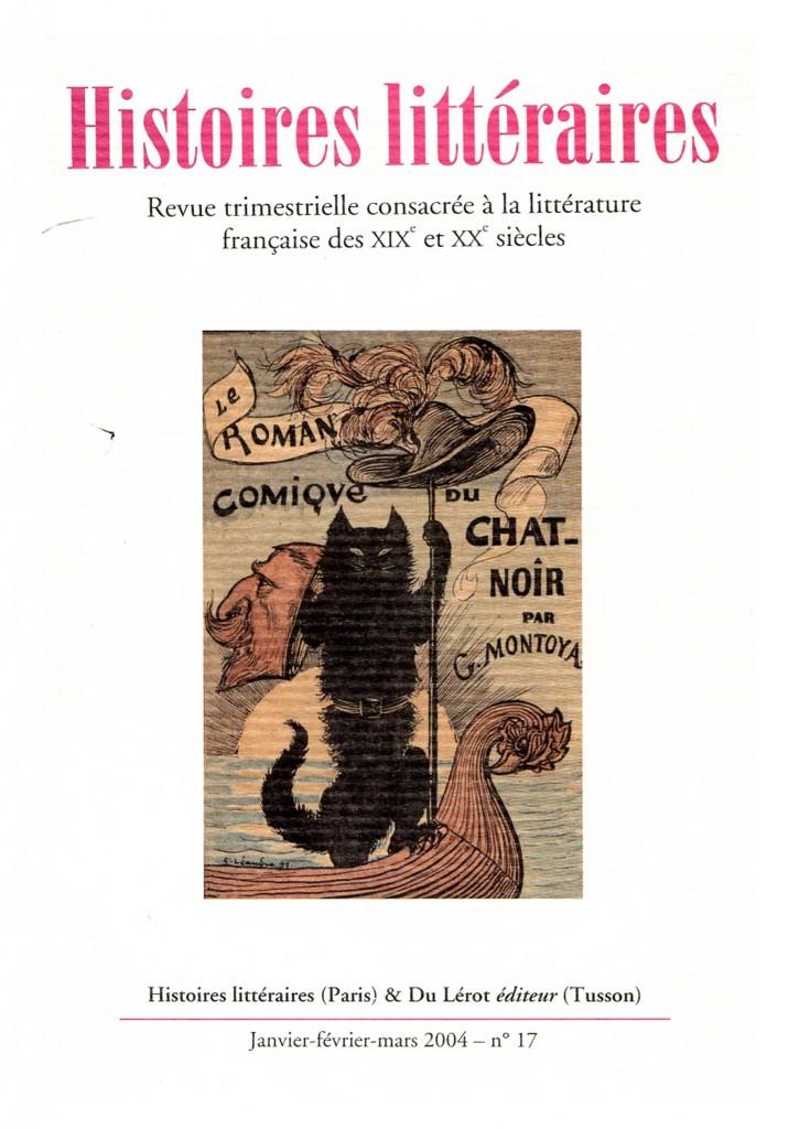 Couverture d'Histoires littéraires n°17