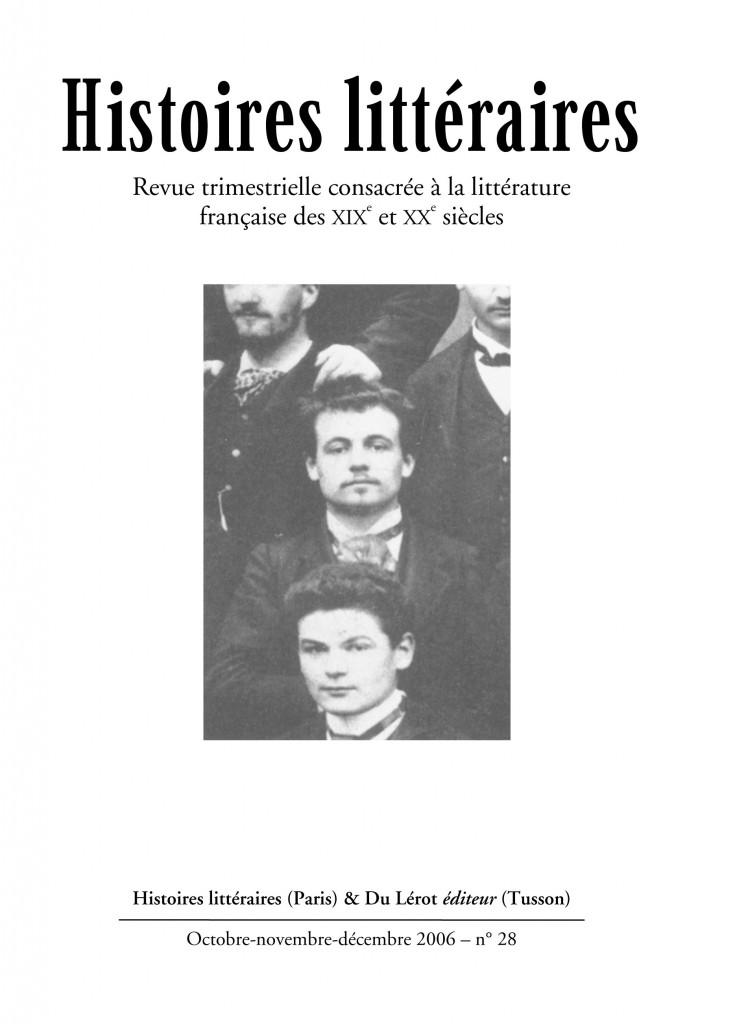 Couvertures d'Histoires littéraires n°28