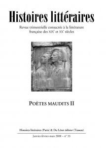 Couverture d'Histoires littéraires n°33