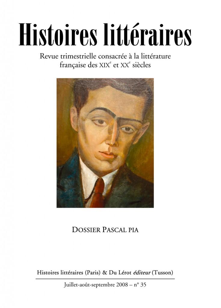 Couverture d'Histoires littéraires n°35