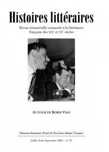 Couverture d'Histoires littéraires n°39