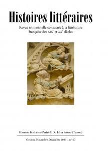 Couverture d'Histoires littéraires n°40