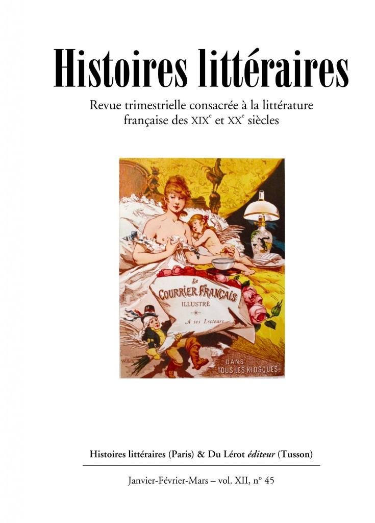 Couverture d'Histoires littéraires n°45