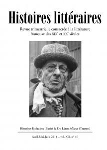 Couverture d'Histoires littéraires n°46
