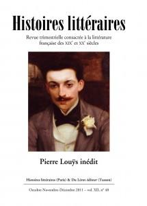 Couverture d'Histoires littéraires n°48