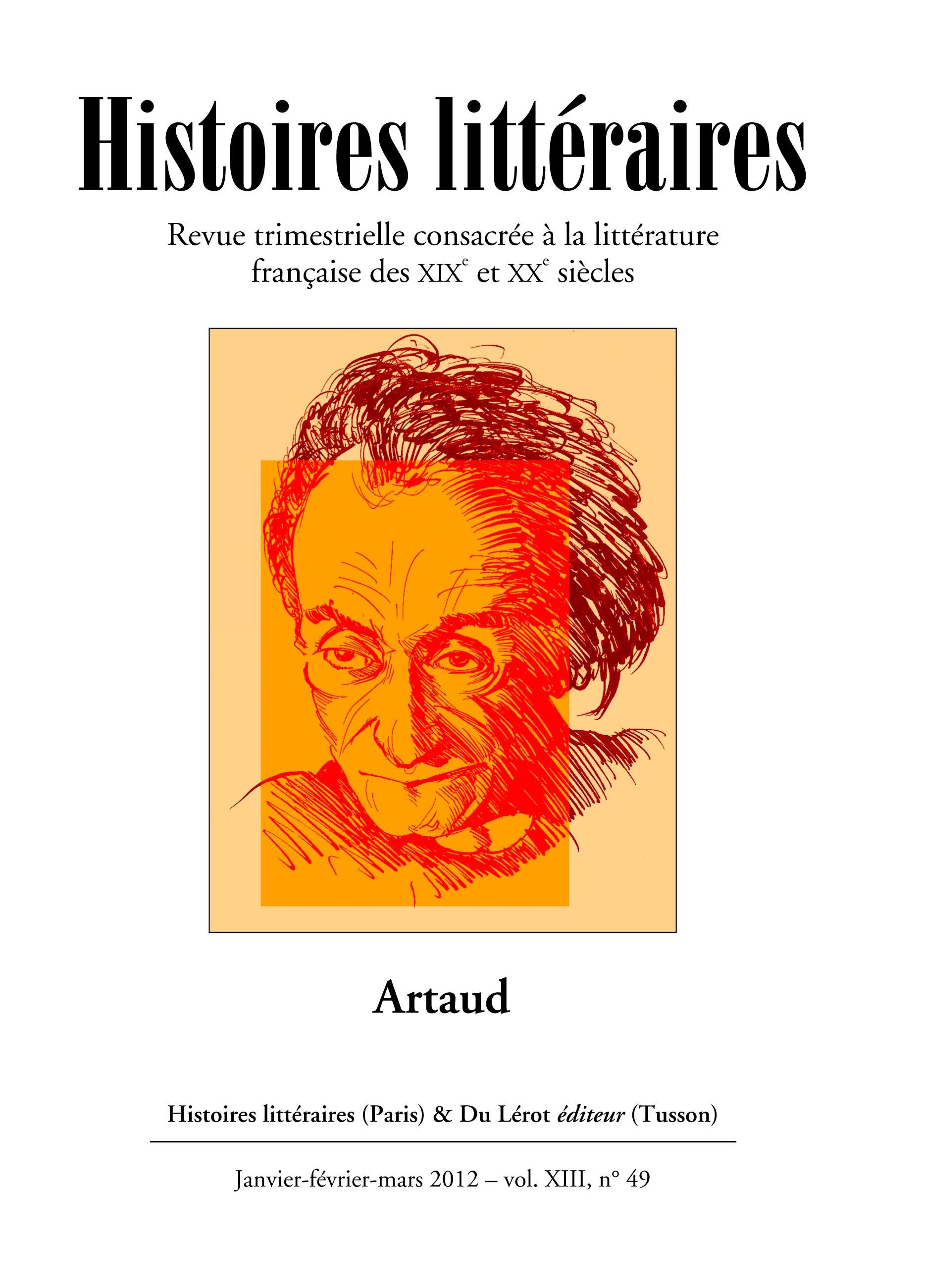 Couvertures d'Histoires littéraires n°49