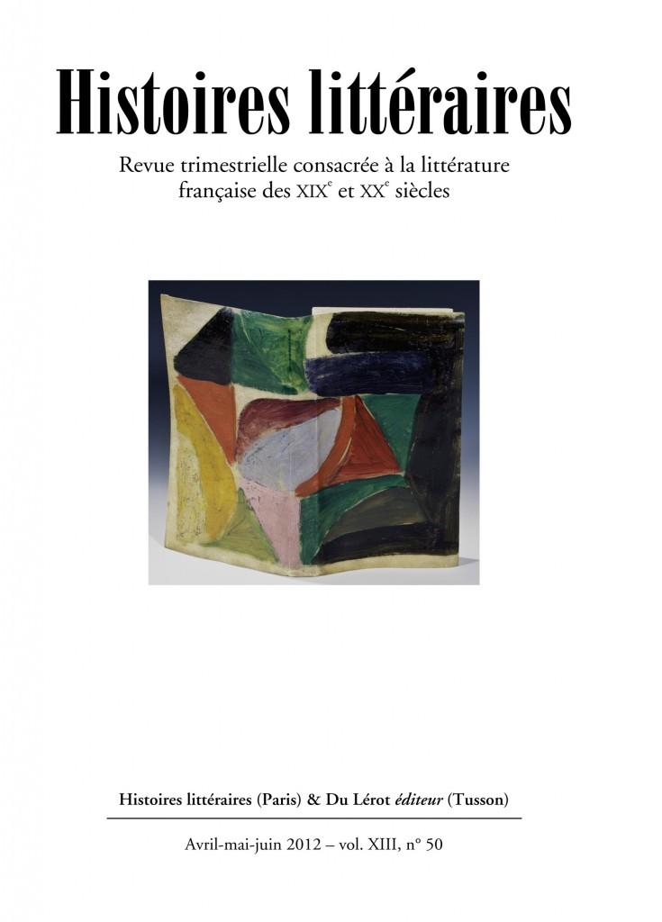 Couverture d'Histoires littéraires n°50
