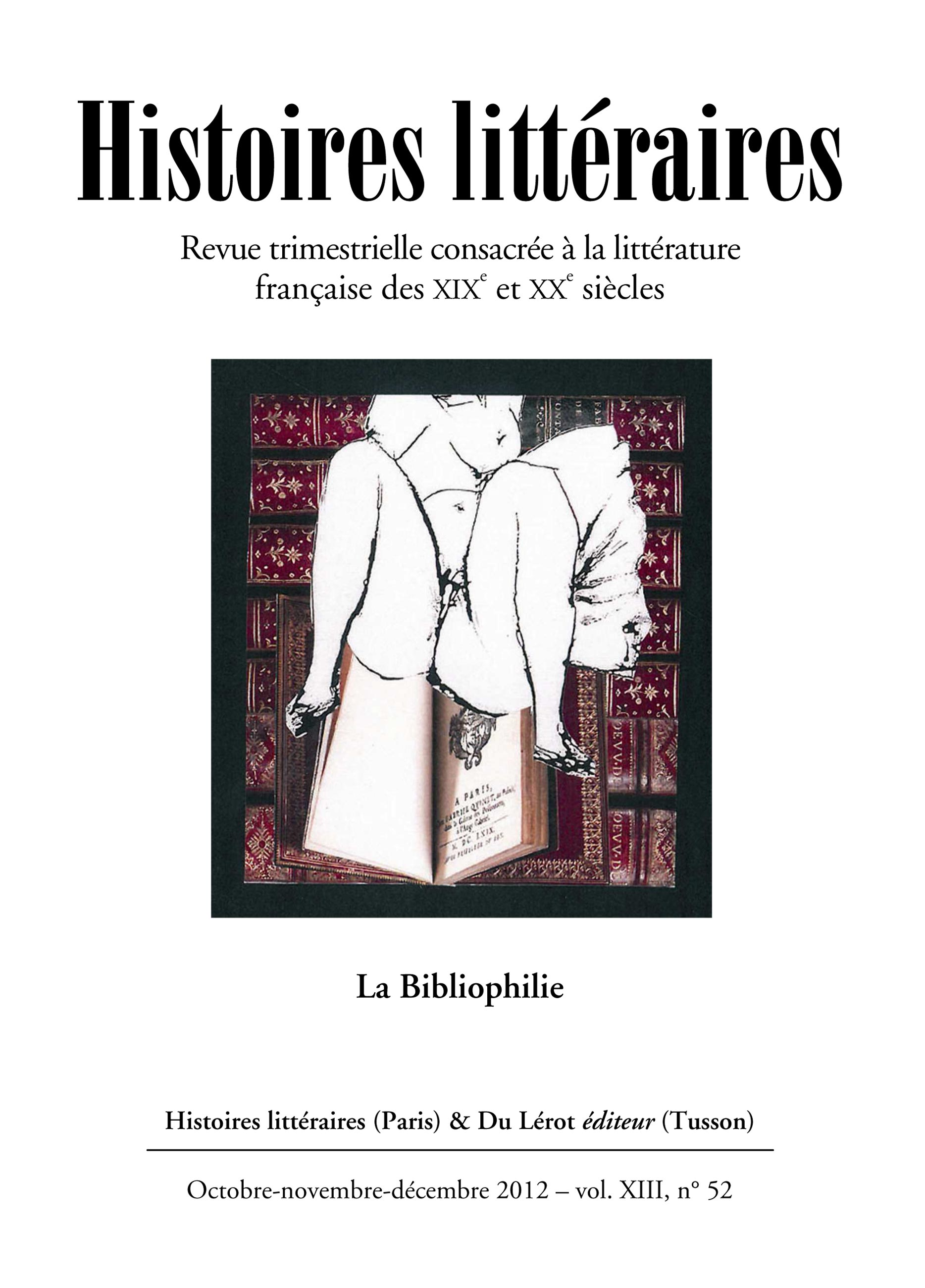 Couverture d'Histoires littéraires n°52