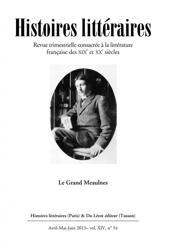 Couverture d'Histoires littéraires n°54