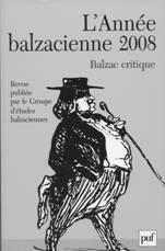 Couverture de l'année balzacienne 2008