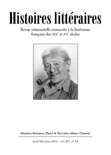 couverture Histoires littéraires n°58