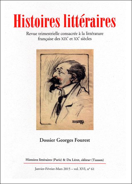 Histoires littéraires n°61 janvier-février-mars 2015