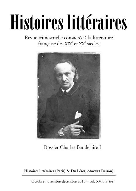 Histoires littéraires n°64 octobre-novembre-décembre 2015