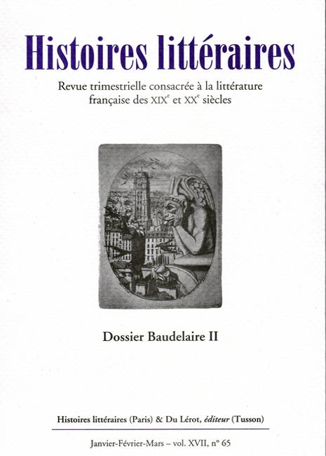 Couverture Histoires littéraires n°65