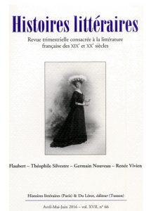 Couverture Histoires littéraires n°66