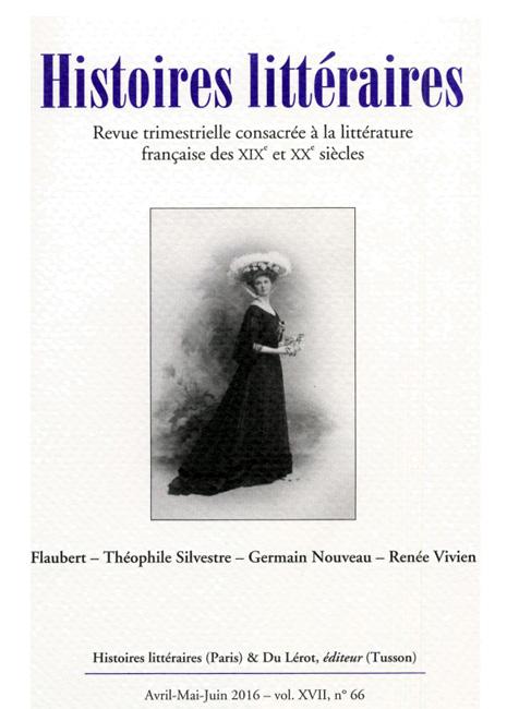 Histoires littéraires n°66 avril-mai-juin 2016