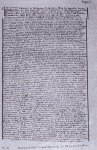 Extrait du manuscrit des 120 journées de Sodome