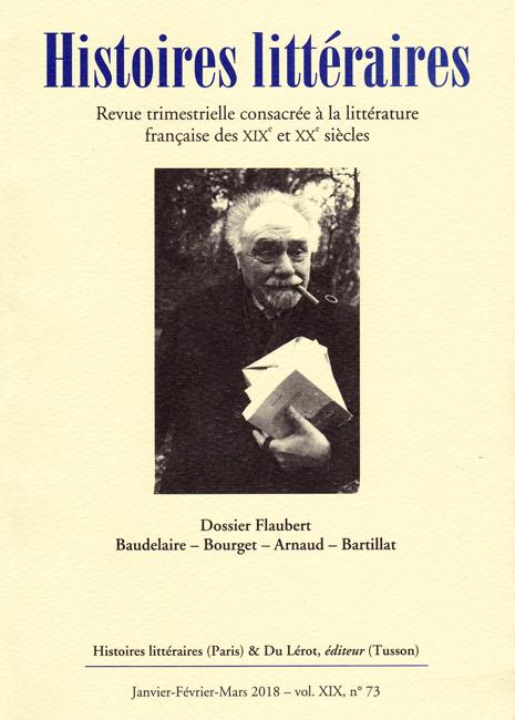Histoires littéraires n°73 janvier-février-mars 2018
