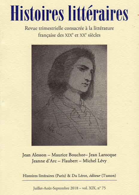 Histoires littéraires n°75
