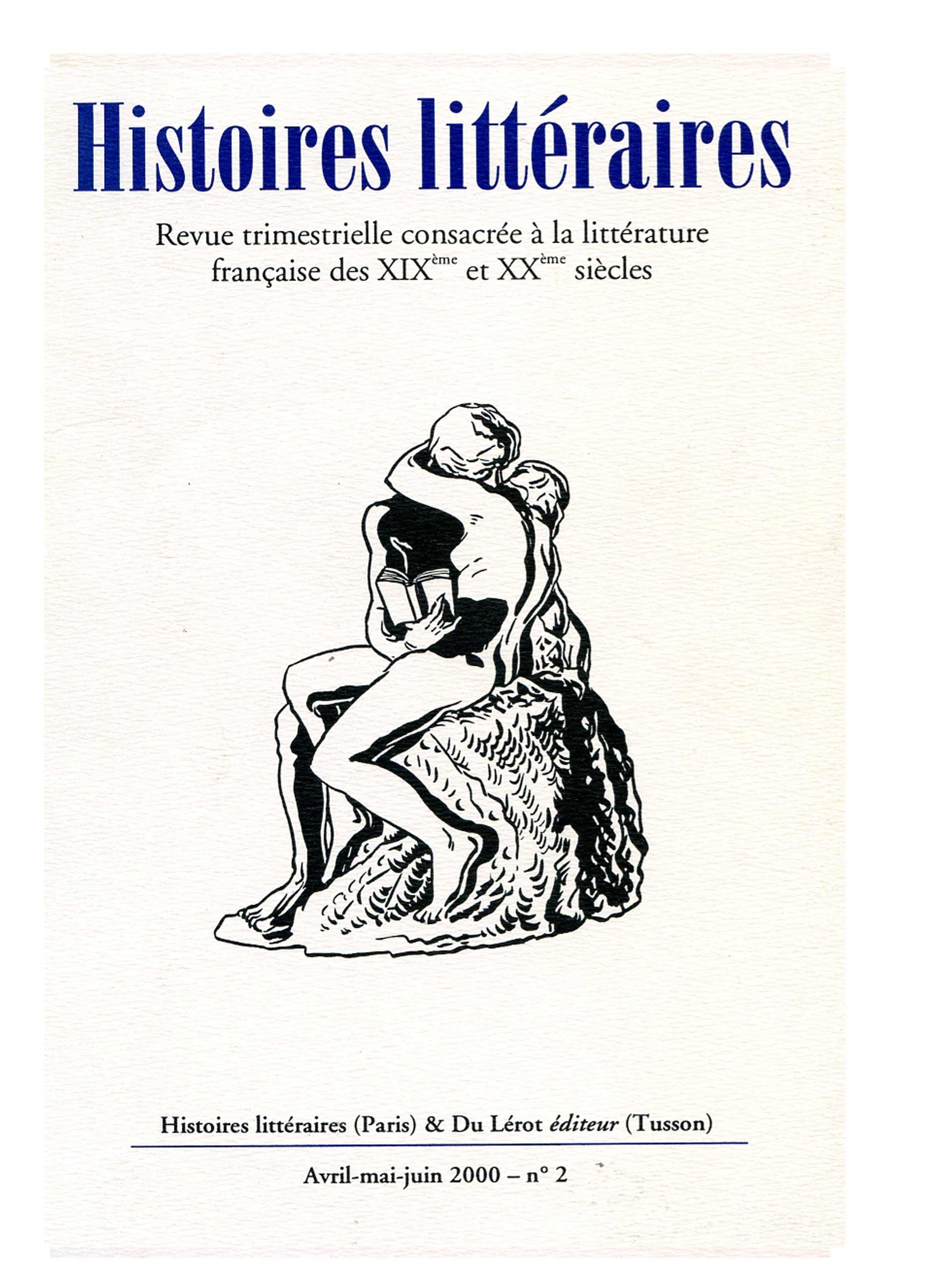 Couverture d'Histoires littéraires n°2