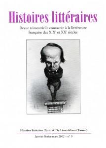 Couverture d'Histoires littéraires n°9