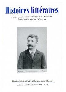 Couverture d'Histoires littéraires n°16