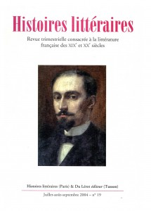 Couverture d'Histoires littéraires n°19