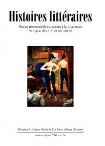 Couvertures d'Histoires littéraires n°34