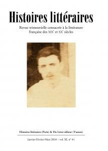 Couverture d'Histoires littéraires n°41