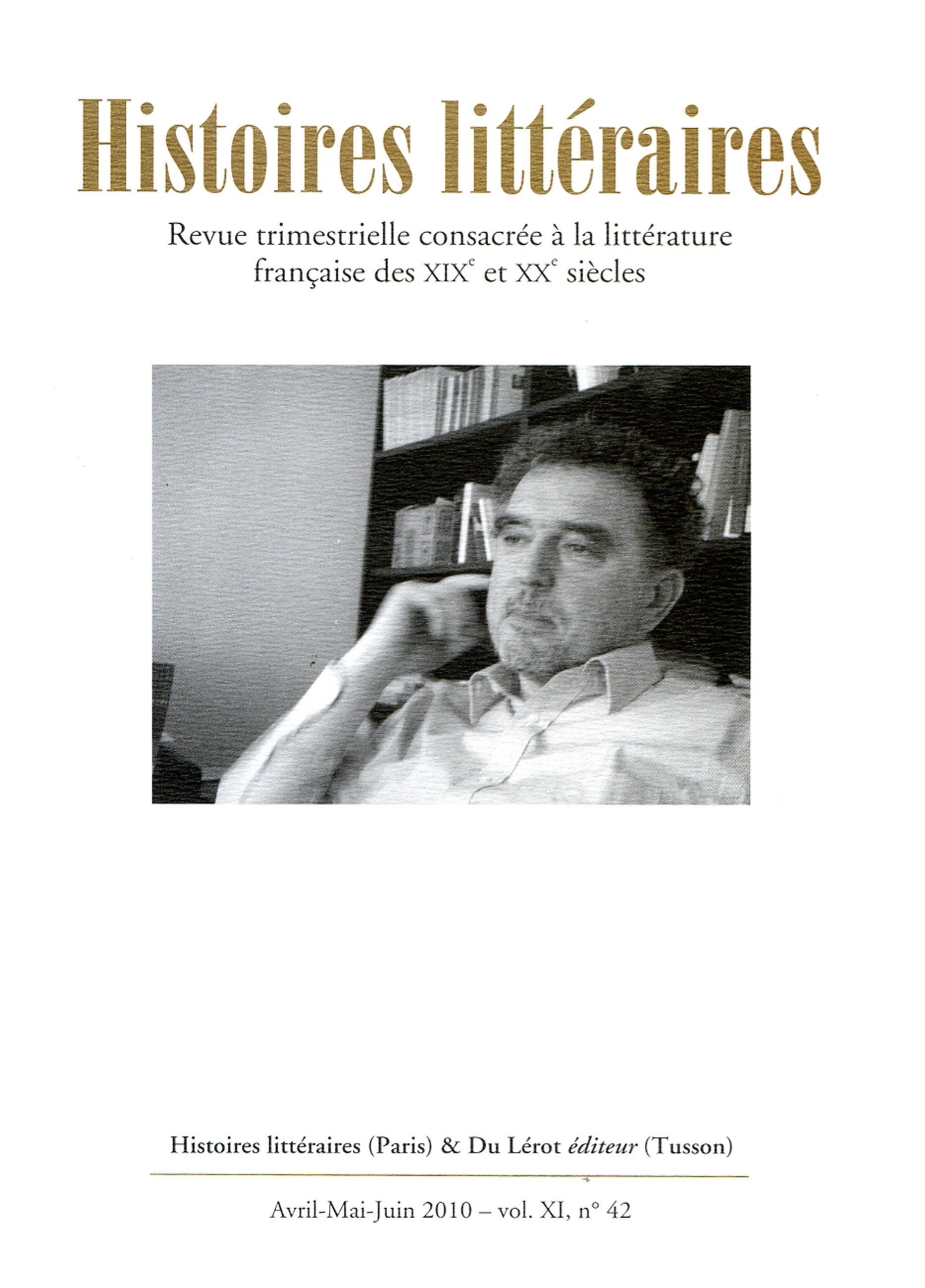 Couverture d'Histoires littéraires n°42