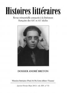 Couverture d'Histoires littéraires n°53