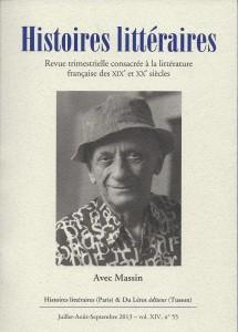 couverture d'Histoires littéraires n°55