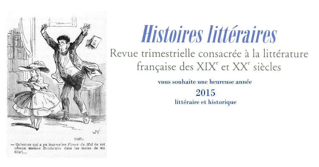 Voeux 2015 Histoires Littéraires