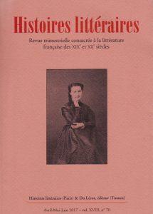 Histoires littéraires n°70 avril-mai-juin 2017