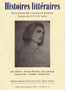 couverture-Histoires littéraires-75