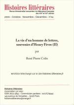 La vie d'un homme de lettres, souvenir d'Henry Fèvre