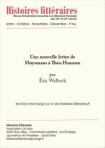 Une nouvelle lettre de Huysmans à Théo Hannon