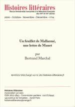 Un feuillet inédit de Mallarmé, une lettre de Manet
