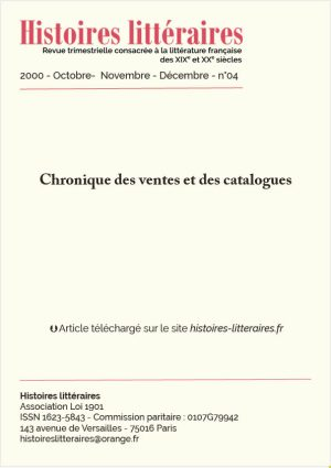 garde 2000-04-chronique des ventes