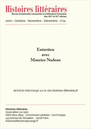 garde 2000-04-entretien avec Maurice Nadeau