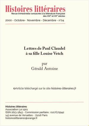 garde 2000-04-lettres de Paul Claudel