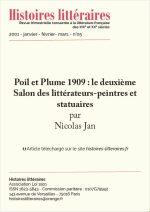 Poil et Plume 1909 : le deuxième Salon des littérateurs-peintres et statuaires