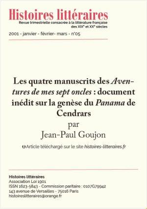 HL-2001-05-02-Les quatre manuscrits