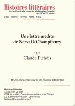 Une lettre inédite de Nerval à Champfleury