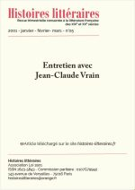 Entretien avec Jean-Claude Vrain
