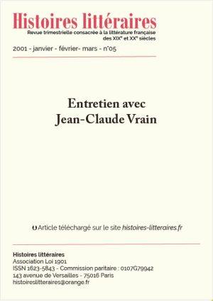 HL-2001-05-09- entretien avec Jean-Claude Vrain