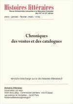 Chroniques des ventes et des catalogues du n°05