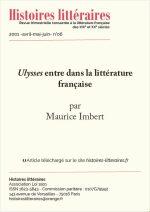 <em>Ulysses</em> entre dans la littérature française